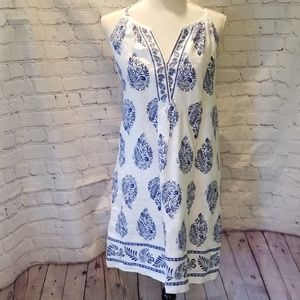 Tommy Bahama Blue And White Linen Dress